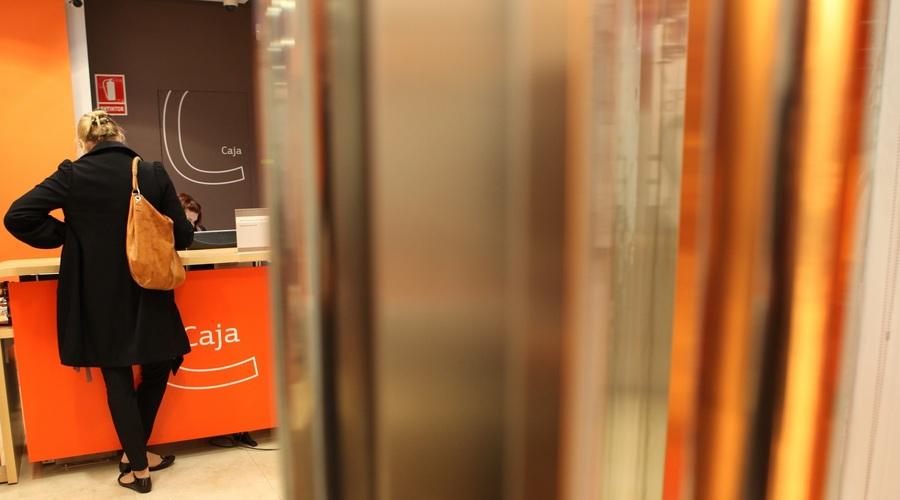 Interior De Una Oficina De Bankinter