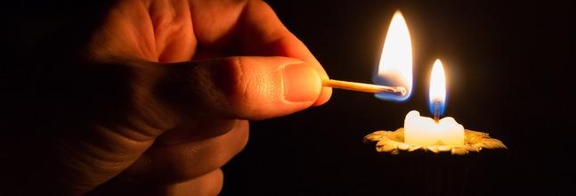 encendido de una vela