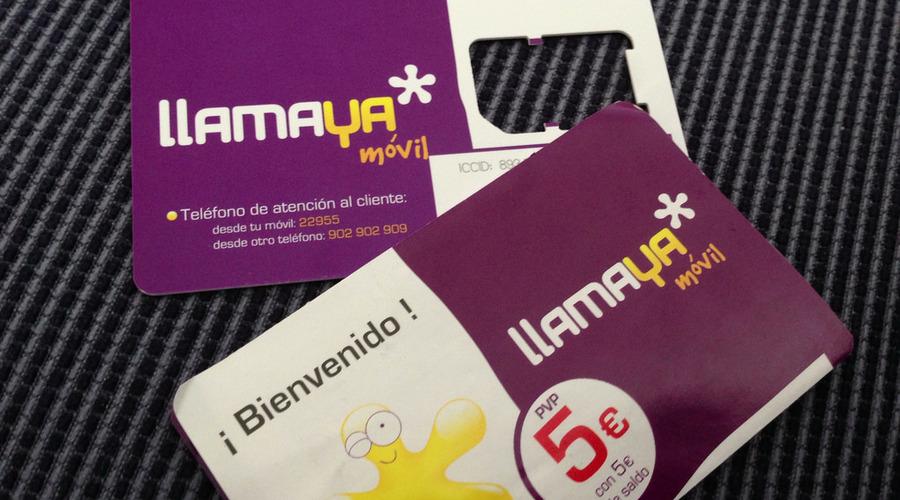 Tarjetas de teléfono de Llamaya