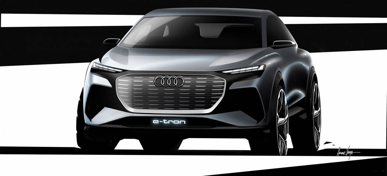 Audi q4 e tron concept 2019 boceto