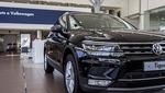 Un coche de la marca Volkswagen Tiguan en una exposición